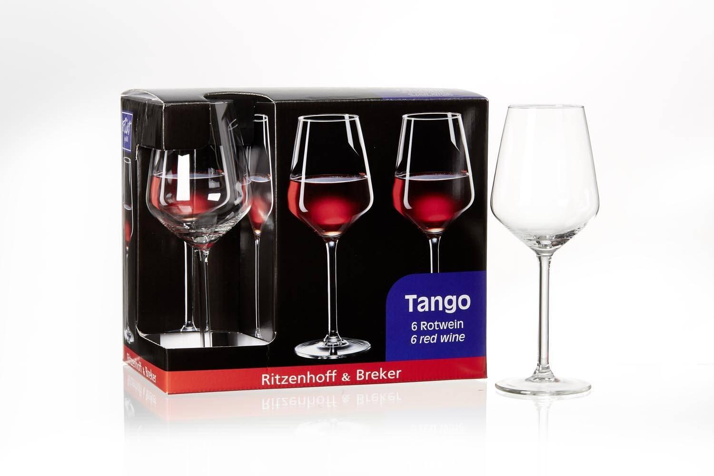 Schnörkelloses Rotweinglas, das dem Rotwein nicht die Show stiehlt