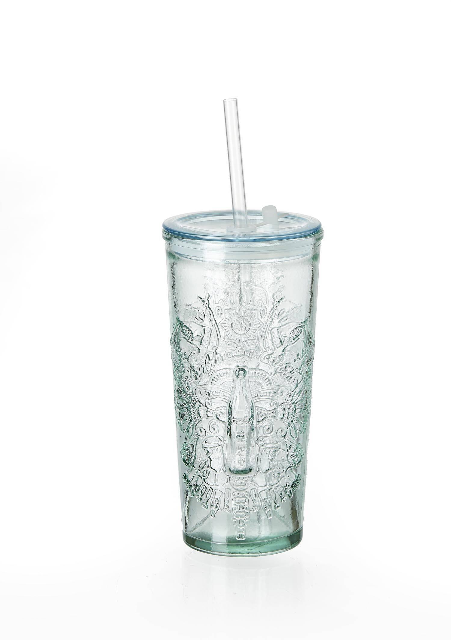 Glasbecher 530ml To Go Coca Cola Wappen