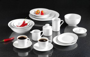 Untertasse 6er Set Conico Bianco